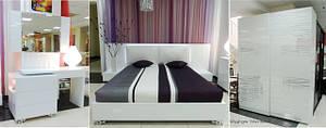 Спальня из МДФ Белый глянец «Silver Rains»