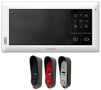 Комплект видеодомофона Kocom KVR-A510 + DVC-311C // 41241