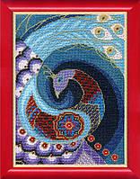 Набор для вышивания крестом  Чарівна Мить ВТ-1019 Синяя птица счастья