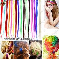 "Волосы на заколках - ""Colored Clip"" - 10 шт."