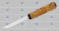 Рыбацкий нож SS 23 (чехол кожа, рукоять пробковое дерево) нетонущий MHR /0-31