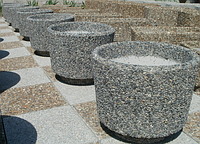 Вазон бетонный для цветов Орион мытый бетон