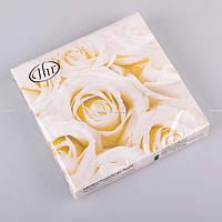 """Набор салфеток из 20 шт., 32x32 см. """"белые розы"""""""