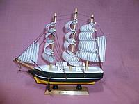 Корабль деревянный трехмачтовый сувенир статуэтка 20х18,5(высота) сантиметров
