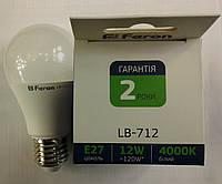 Светодиодная лампа Feron LB-712 E27 12W 4000K (белый нейтральный)
