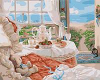 У моря, серия Деревенский пейзаж, рисование по номерам, 40 х 50 см, Идейка (KH2202)