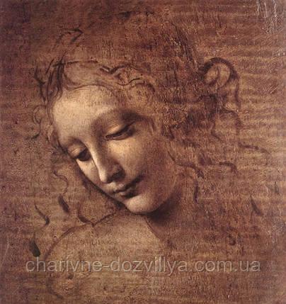 """Набор алмазной вышивки (мозаики) """"Голова женщины"""". Художник Леонардо да Винчи, фото 2"""