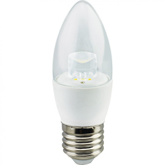 Лампа диодная LUMEN LED свеча 7W 220V 3000K E27 прозрачная