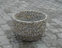 Вазон Фиеста из мытого бетона