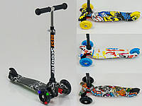 Самокат детский Scooter Mini Style с рисунком светящиеся колеса