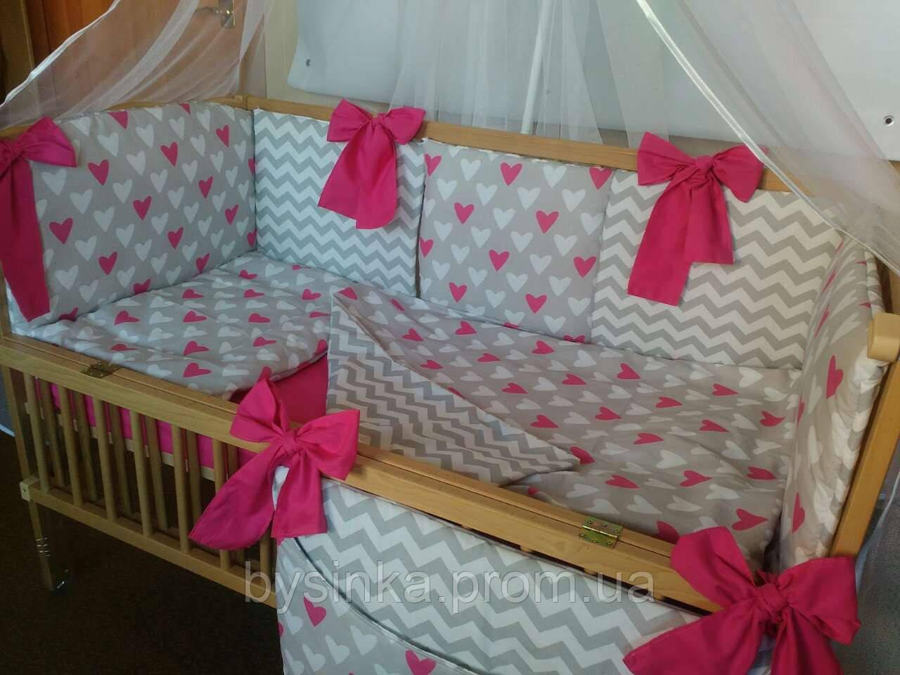 """Комплект в кроватку новорожденного с бортиками подушечками - """"Сладкий сон"""" 7 ед."""
