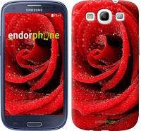 "Чехол на Samsung Galaxy S3 Duos I9300i Красная роза ""529c-50"""