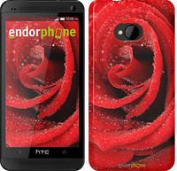 "Чехол на HTC One M7 Красная роза ""529c-36"""