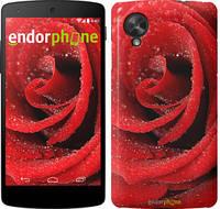 "Чехол на LG Nexus 5 Красная роза ""529c-57"""