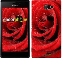 """Чехол на Sony Xperia M2 dual D2302 Красная роза """"529c-61"""""""