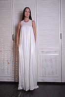 Платье женское,  макси ,белое, весна-лето,  P-INDIA1-1