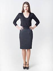 Женская стильная юбка-карандаш с карманами