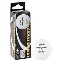 Шарики для настольного тенниса Stiga 3* Competition, пластик, d-40мм., 3шт. (SТ-16A)