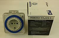 Розетка с таймером механическая влагозащённая TM31, фото 1