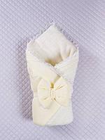 """Детский конверт-одеяло """"Дуэт"""" кремовый, зима"""
