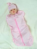 "Кокон для новонароджених ""Горошок"" рожевий"