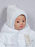 Шапочка для новорожденных, белая, 0-1 мес
