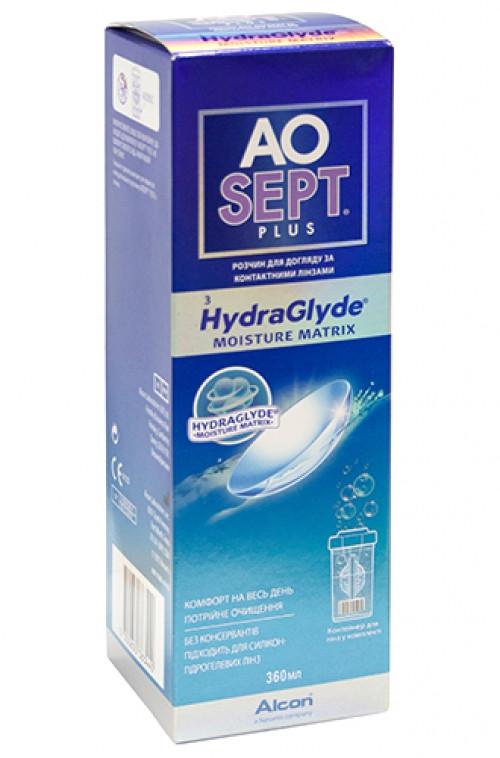 Пероксидна система для контактних лінз Alcon, AOsept Plus HydraGlyde, 360 мл, фото 1