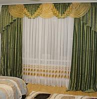 Комплект ламбрекен + шторы в зал, спальню № 231