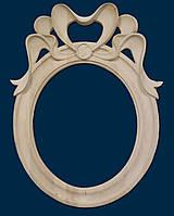 Зеркало овальное резное с бантиком