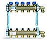 Коллектор HKV из латуни для теплого пола (9 выхода)