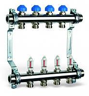 Коллектор HKV 2013-VA из нержавеющей стали для теплого пола(4 выхода)