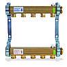 Коллектор HKV A из латуни для радиаторной системы(3 выхода)