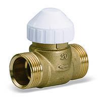Двухходовой латунный зональный клапан 2131 для фанкойлов, фото 1