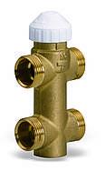 Треххходовой латунный зональный клапан 4131 для фанкойлов, фото 1