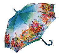 Женский зонт трость Zest  Красочный город ( автомат ), арт. 21625-30