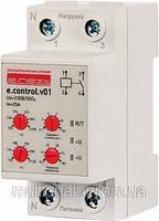 Реле контроля напряжения однофазное e.control.v01, 25А
