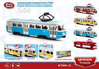 """Трамвай инерционный со светом и звуком PLAY SMART 9708C """"Автопарк"""""""