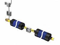 Комплект для соединения кабеля на двух отрезках трубы