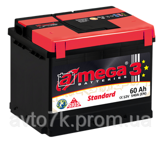 Акумулятор ваз 2110 2111 2112 a-mega (Амега) 60 Ач