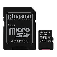 Карта памяти microSDXC 64GB KIngston (UHS-1) + Адаптер SD