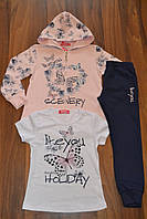 Венгерские спортивные трикотажные костюмы троечки  для девочек.Размеры 116-146 см.Фирма S&D. Венгрия, фото 1