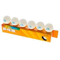 Шарики для настольного тенниса *(6шт) Double Fish (Китай) Белый