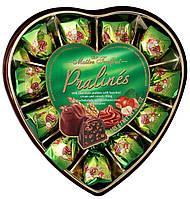 Конфеты Pralines (Пралине фундука с зерновыми сердцами в молочном шоколаде) Maitre Truffout Австрия 165г