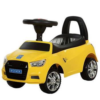 Каталка-толокар для малюків M 3147A-6 AUDI прогумовані колеса