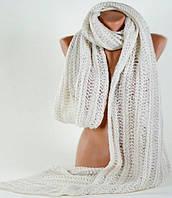 Женский шарф из мохера 200 на 40 см. Traum 2483-11, бежевый