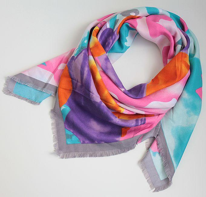 aab320971534 Стильный женский платок 100 на 100 Dress SK14_сер