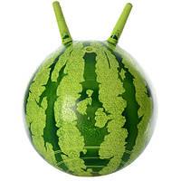 М'яч для фітнеса 38 см  МS 0473 рожки,гарбуз  6 кол.кульок