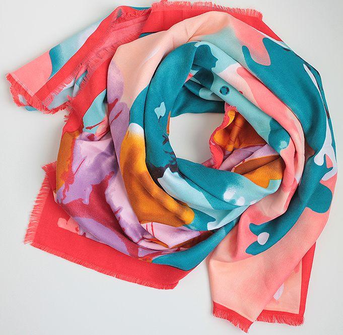 Модный женский платок 100 на 100 Dress SK14_красн