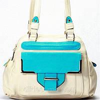 Женская сумка Gilda Tohetti бежевая с голубым