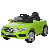 Детский электромобиль Mercedes M 2772 EBR-5 зеленый, мягкие колеса и амортизаторы